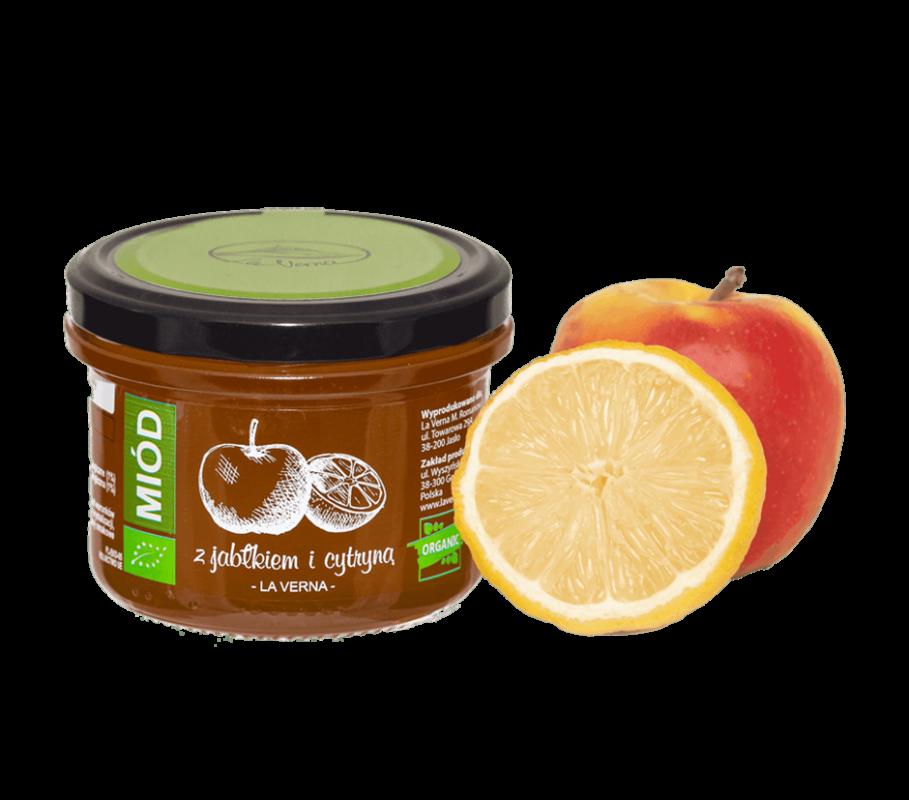 laverna-miod-honey-jablko-cytryna-eco-bio-organic