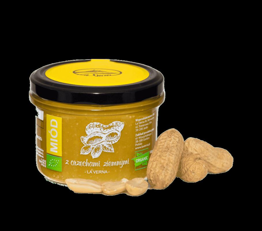 laverna-miod-honey-orzechy-ziemne-eco-bio-organic