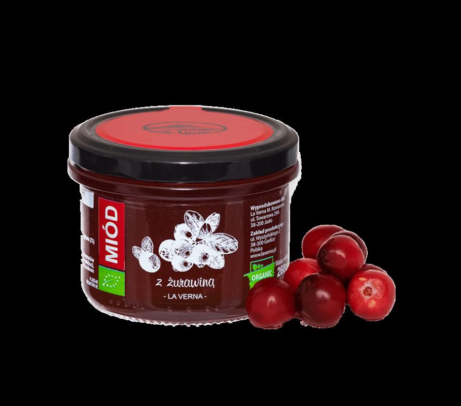 laverna-miod-honey-zurawina-eco-bio-organic